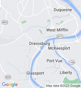 Dravosburg PA Map