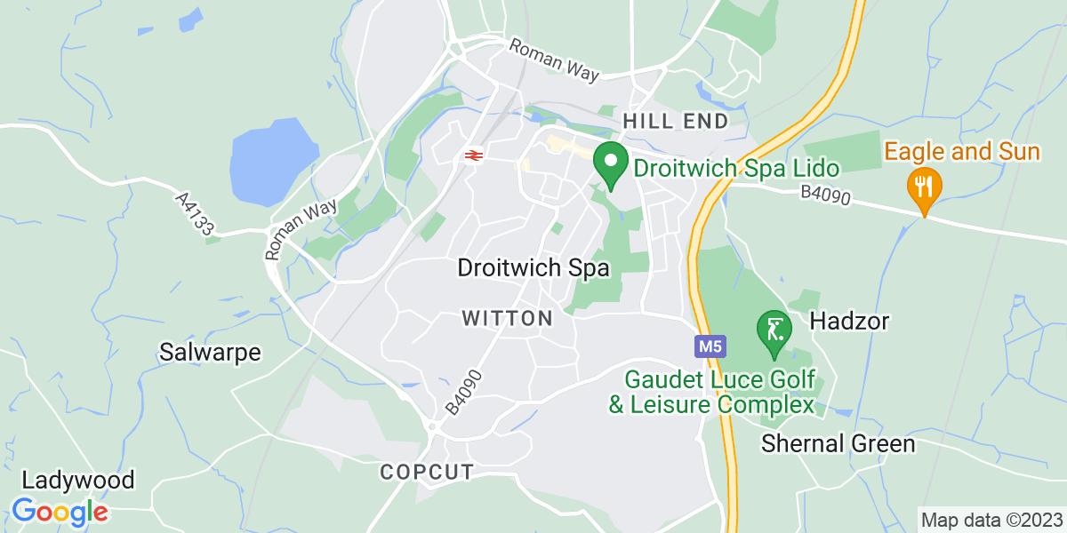 Map: Customer Service Consultant job role in Droitwich