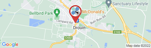 Drouin google map