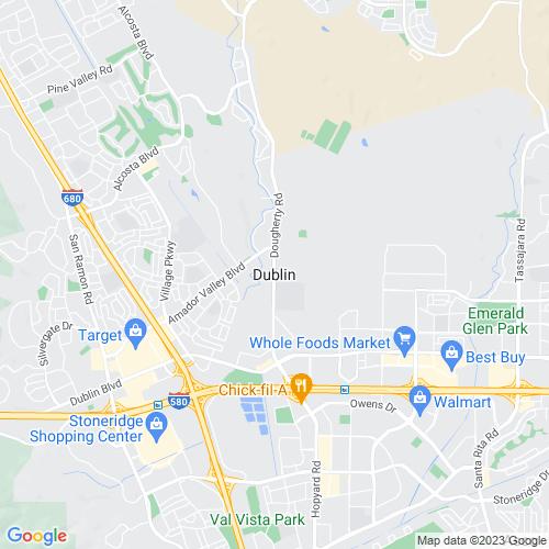 Map of Dublin, CA
