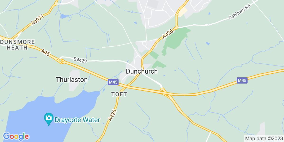 Map: Senior Customer Service Advisor job role in Dunchurch