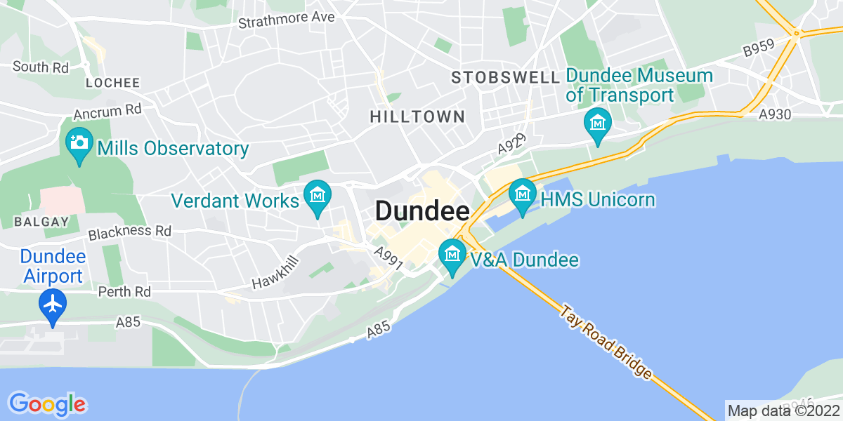 Map: IT / Multi-functional Device Trainee Engineer job role in Dundee
