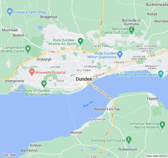 Website Designer Dundee Google map of location