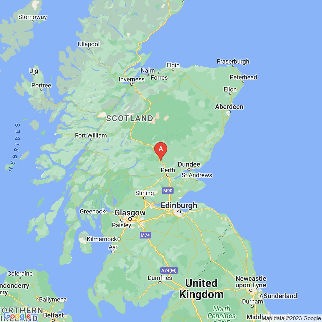 Dunkeld, Scotland Map