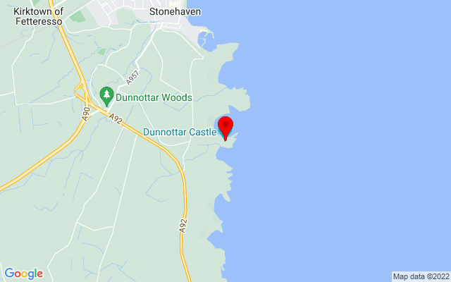 Google Map of Dunnottar Castle, Stonehaven, AB39 2TL