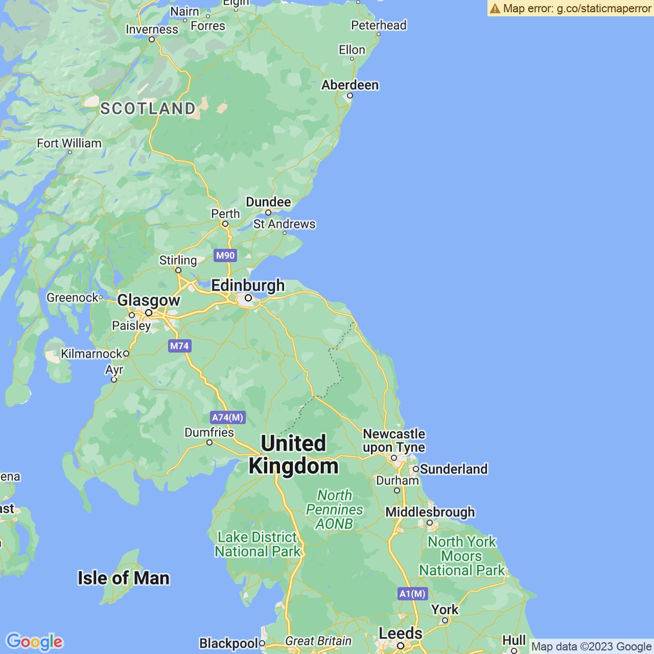 Duns, Scotland Map