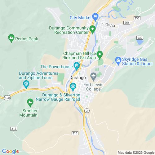 Map of Durango, CO