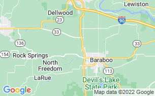 Map of Baraboo Hills Campground