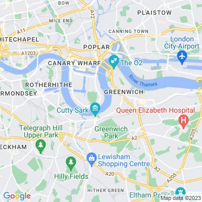 Island Gardens, Millwall Location