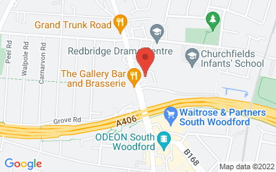 Map of South Woodford Health Centre