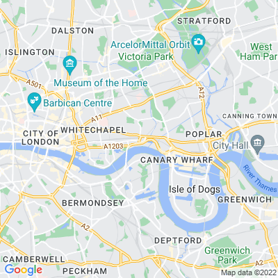 St James's Gardens, Tower Hamlets Location