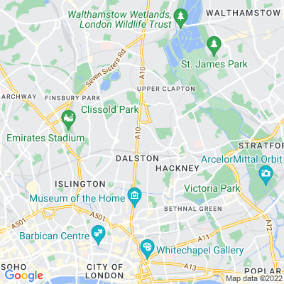 Shacklewell Green and Shacklewell Lane Triangle Location