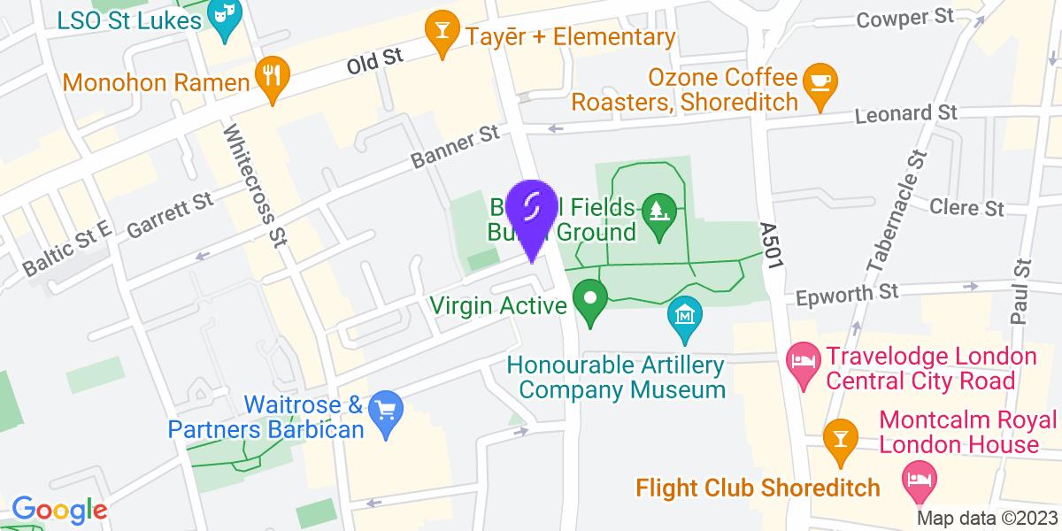 Google Map of EC1Y 1BJ