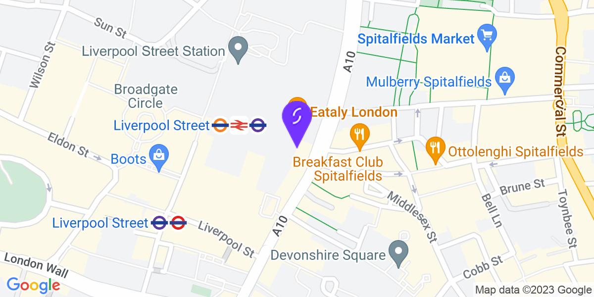 Google Map of EC2M 3YD