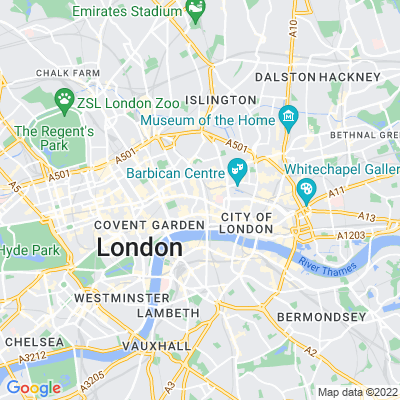 St Andrew Street Garden and Holborn Circus Garden Location