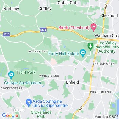 Hillyfields Park Location