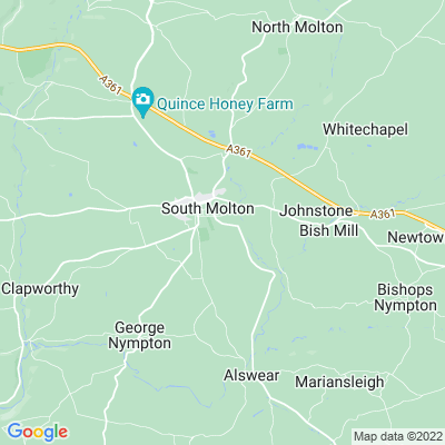 South Molton Cemetery Location