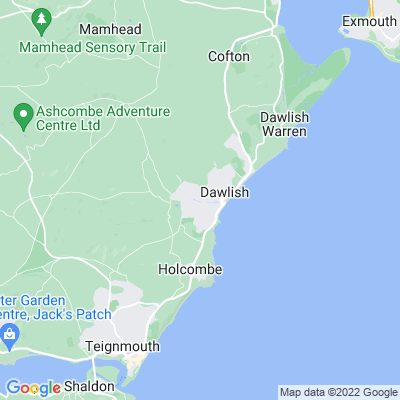 Lawns, The, Dawlish Location