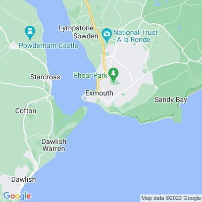 Exmouth Seafront Gardens Location