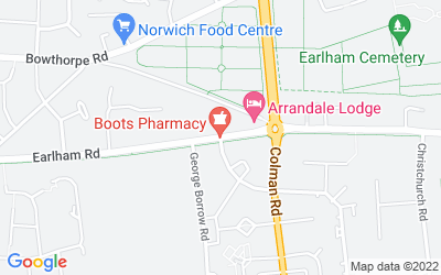 Map of Co-Op Earlham Road