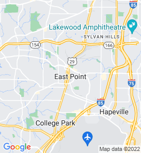 East Point GA Map