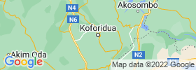 Koforidua map