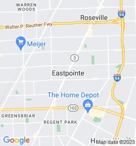 Eastpointe MI Map