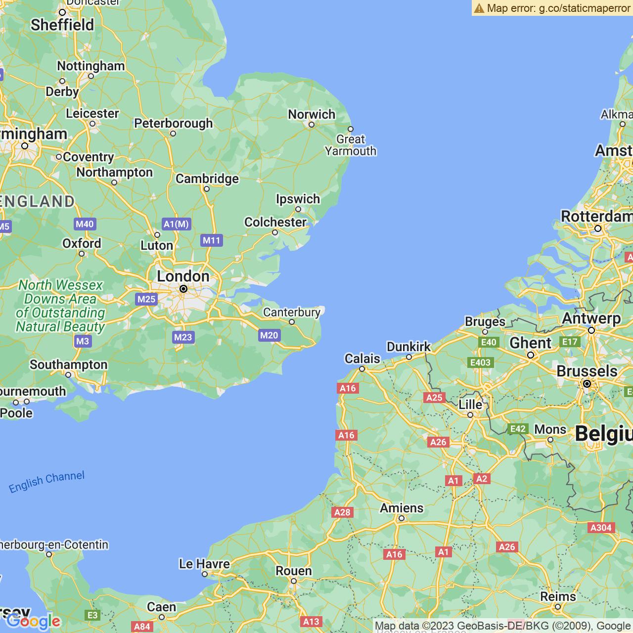 Ebbsfleet, England Map
