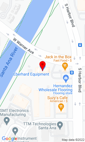 Google Map of Eberhard Equipment 2506 S. Harbor Blvd., Santa Ana, CA, 92704,