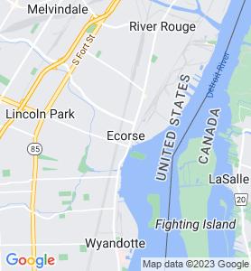 Ecorse MI Map