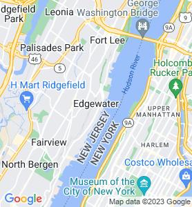 Edgewater NJ Map