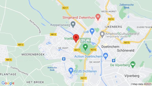 Doetinchem+Renault op Google Maps