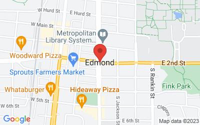 Map of Edmond