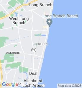 Elberon NJ Map