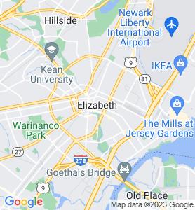 Elizabeth NJ Map