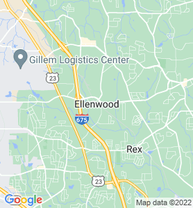 Ellenwood GA Map