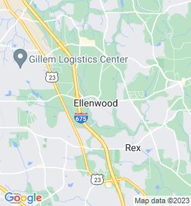 Ellenwood GA Map