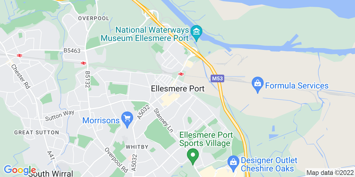 Map: Graduate Administrator - Evening Shift role in Ellesmere Port