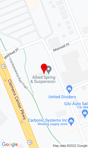 Google Map of Elmira Auto Spring Works 999 Lackawanna Avenue, Elmira, NY, 14901