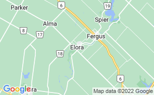 Map of Elora Gorge Conservation Area