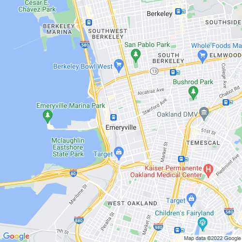 Map of Emeryville, CA