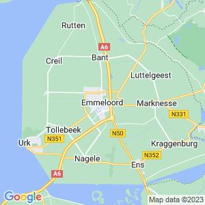 Werkgebied van onze bestrijder in Emmeloord