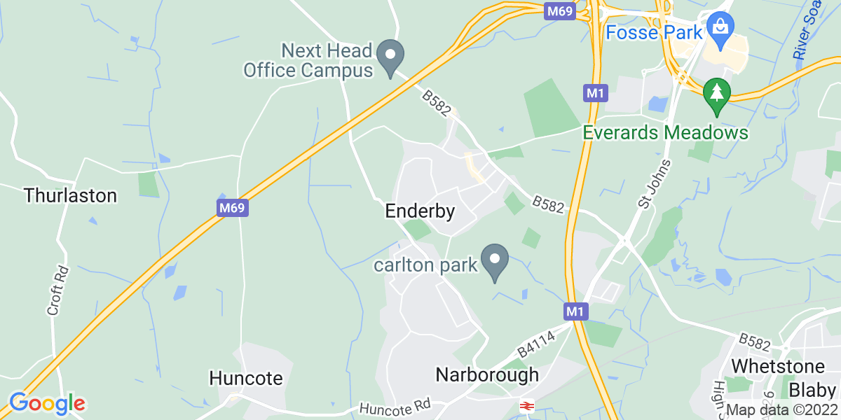 Map: HGV Class 2 Skip Driver position in Enderby