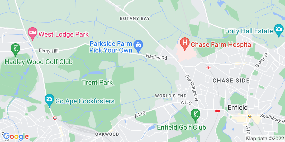Map: Interim Financial Controller job role in Enfield