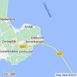 Werkgebied van onze bestrijder in Enkhuizen