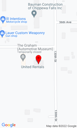 Google Map of Equip Rentals 2393 S Prairie View RD, Chippewa Falls, WI, 54729