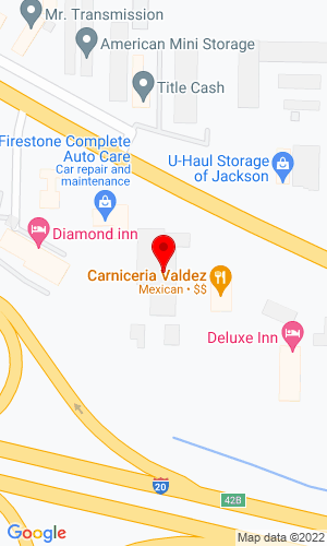 Google Map of Equipment, INC. PO BOX 1987, 2309 Hwy 80 W, Jackson, MS, 39204