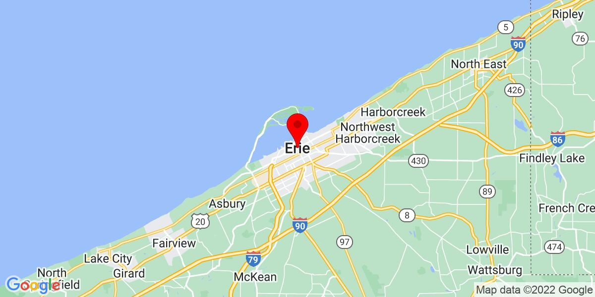 Google Map of Erie, PA