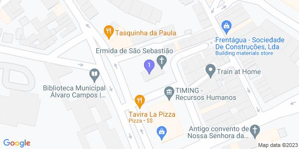 Google Map of Ermida de São Sebastião tavira
