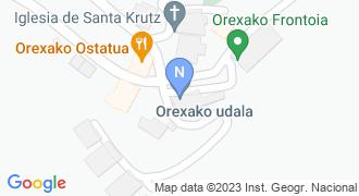 Orexako udaletxea mapa